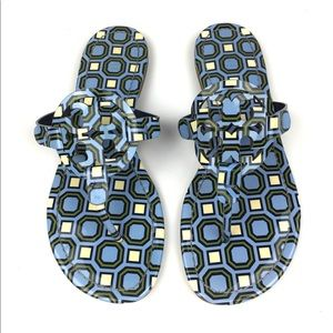 TORY BURCH Geometric Logo Miller Sandals \\ 7